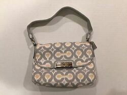 NWT COACH 45376 SVGE Kristin IKAT Top Pouch Purse Bag MSRP $168.00