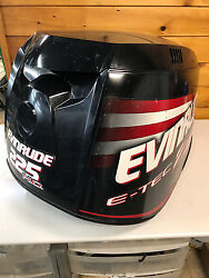 2009 Evinrude E-tec 225 Hp 2 Stroke Outboard Top Cowl Hood Cover Freshwater Mn
