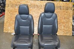 2010-2011 VOLVO XC60 FRONT BLACK STICHED LEATHER SEATS WITH DVD HEADREST OEM