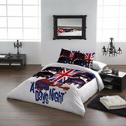 The Beatles Hard Days Night - Duvet And Pillows Cover Set - Uk Double / Us Twin