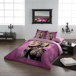 Marilyn Pretty In Pink - Duvet And Pillows Cover Set - Uk Double / Us Twin
