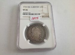 1723 Ssc Great Britain Half Crown Ngc Vf 35