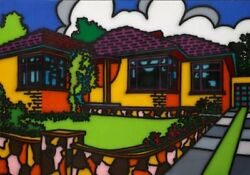 Howard Arkley - Triple Fronted - Limited Edition Print - 1988 - Medium Size