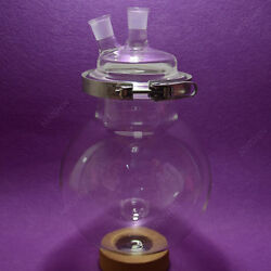 Two-neck Reaction Flask,24/29,10000ml,separately Flask,round Bottom,with Clamp