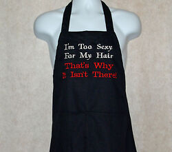 Funny Man's Apron, Bald Man, Sexy Hair, Custom Personalize With Name, Agift 588