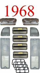 68 Chevy 10pc All Clear Tail Light, Deluxe Side And Parking Light Kit C/k Truck