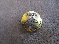 Vintage 1943 New Mexico Nm Chauffeur Badge Pin Cdl Employee Id Driver License