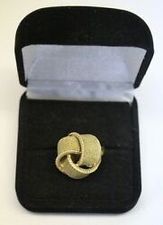 Rare Design Antique 14k Yellow Gold Ring Size 7 And Weight 10.5 Grams