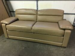 Flexsteel 74 Jackknife Brown Sofa Couch Ft Pull-out Bed Rv Boat Motorhome Jack
