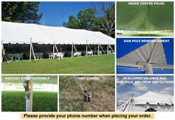 20' x 80' Classic Series Pole Tent Party Wedding Marquee