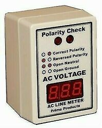 Prime Products 12-4058 Ac Led Digital Line Monitor And Polarity Tester