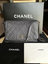 CHANEL SATCHEL COUTURE MESSENGER LAMB SKIN LEATHER