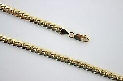 10k Authentic Solid Yellow Gold Miami Cuban Link Chain Necklace Men 5mm / 2230