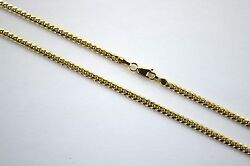 14k Authentic Solid Yellow Gold Miami Cuban Link Chain Necklace Men 3mm / 1830