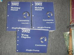 2002 LINCOLN CONTINENTAL Service Shop Repair Manual Set W EWD FACTORY BOOKS
