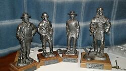 Michael Ricker Limited Edition Western Pewter Statue