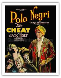 The Cheat Pola Negri Jack Holt Vintage Film Movie Art Poster Print Giclée