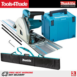 Makita Sp6000j1 240v 165mm Plunge Saw With 1 X 1.5m Guide Rail + Case And Rail Bag