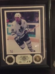 Tie Domi Toronto Maple Leafs 28 Two 24 Kt Gold Overlay Medallions