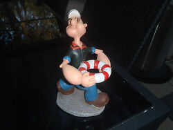 Extremely Rare Popeye Walking With His Lifebelt Old Figurine Statue