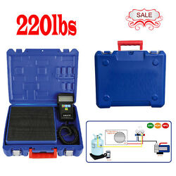 220lbs Electronic Refrigerant Charging Digital Scale For HVAC with Carrying Case