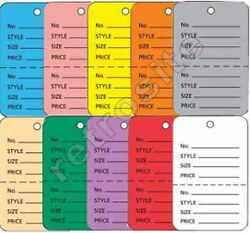 Merchandise Coupon Price Tags Without Strings Unstrung Perforated Colors-sizes