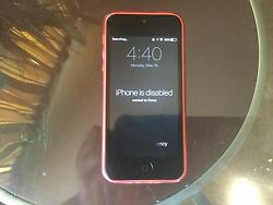 Pink Iphone 5c Disabled Iphone Broken Home Button Comes With Case