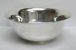 Exceptional Gebelein Sterling Silver Heavy Hand Planishing Centerpiece Bowl