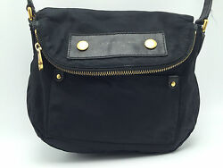 1B2a Marc By Marc Jacobs Preppy Nylon Mini Natasha Bag  Crossbody Black Women