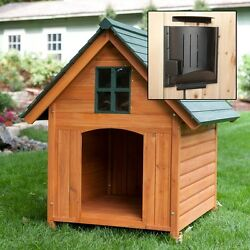 Dog House For Extra Large Dogs Heater Cooling Fan Climate Control Wooden A Frame