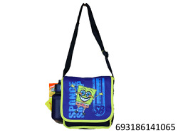 Nick Sponge Bob Messenger Insulated Lunch Box Bag With Water Bottle-1065
