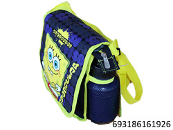 Nick Sponge Bob Messenger Insulated Lunch Box Bag With Water Bottle-1926