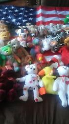 Beanie Babys They Were My Aunt's She Left Them To Me I Know There Are Some Good.