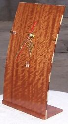 Mike's Woodworking! Handmade Real Wood Clock! BIG RED! Full Size. Brand New!