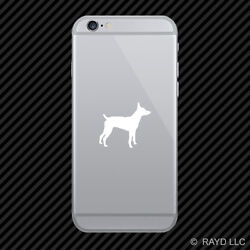 2x Rat Terrier Cell Phone Sticker Mobile Dog Canine Pet Many Colors