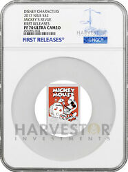 2017 Disney Poster Coin - Mickeyandrsquos Revue - Ngc Pf70 First Releases - W/ogp