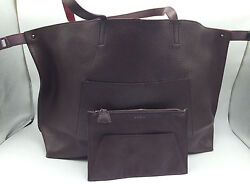 2B1 Akris Elegant Tote Convertible Shopper Burgandy  Fashion Women Purse $1690