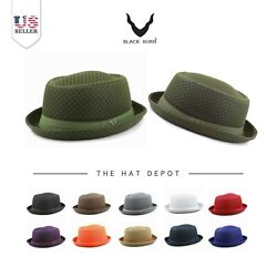 Porkpie Hat - Light Weight Classic Soft Cool Summer Mesh Porkpie Hat 7060 $14.44