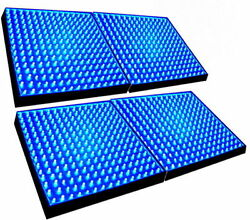 4-Pack Grow Light Panel 225 LEDs 465 nm Blue for Green house Hydroponic System