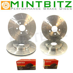 Vw Passat Cc 2.0 Gt Tdi 08-08 Dimpled And Grooved Front Rear Brake Discs Pads