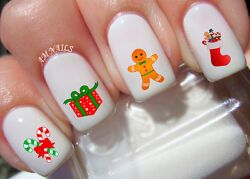 Christmas Nail Art Stickers Transfers Decals Set Of 36