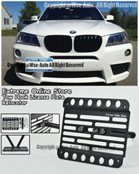 For 11-up Bmw F25 X3 Front Tow Hook Mount Relocated License Plate Bracket Holder