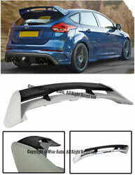 Rs Style Rear Spoiler Roof Wing Abs Plastic For Ford Focus Hatchback 2013-up