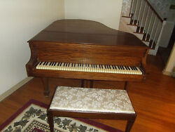 Kranich And Bach Antique Baby Grand Piano W/bench Mahogony