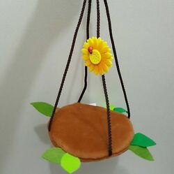 New Arrival 1 Pcs Sugar Glider Swing Accessory Brown Forest Pattern, Small Pet
