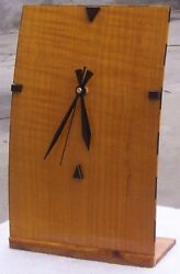 Mike's Woodworking! Handmade Real Wood Clock! BIG GOLDIE! Full Size. Brand New!