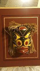 Crafted By Renowned Artist Bill Henderson Bumblebee Mask. A Museum Quality Piece