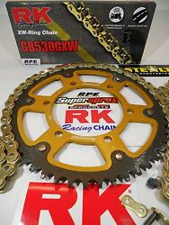 And03999-00 Honda Cbr600 F4 Rk Gxw Gold 530 -1/+1t Supersprox Chain And Sprocket Kit