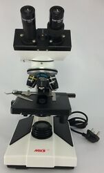 MIKO MD-52B 20Nos 40X-2000X Binocular compound Microscope w LED stage slide bulb