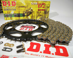 Suzuki Gsxr750 '00/03 Did Gold X-ring Quick Acceleration Chain And Sprockets Kit